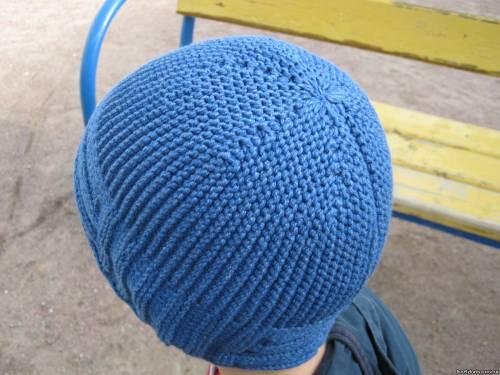 Поперечное вязание шапки крючком видео