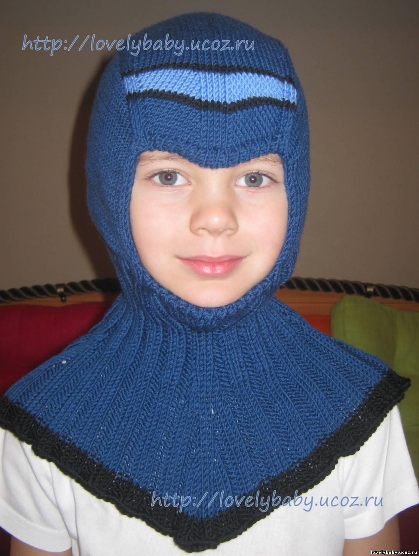 Вязание шапочки шлема на мальчика