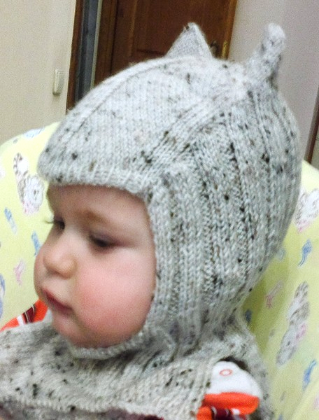 Связать ребенку шапку шлем